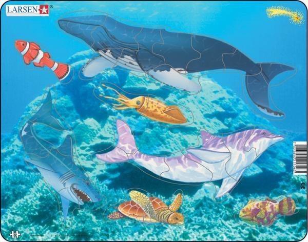 LARSEN Puzzle Život v moři 30 dílků