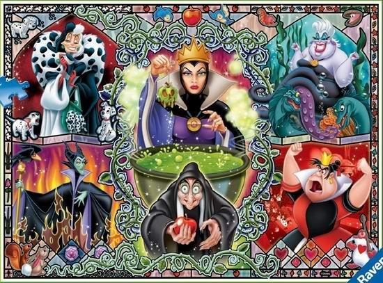 Puzzle RAVENSBURGER 1000 dílků - Zlé ženy z Disneyho pohádek
