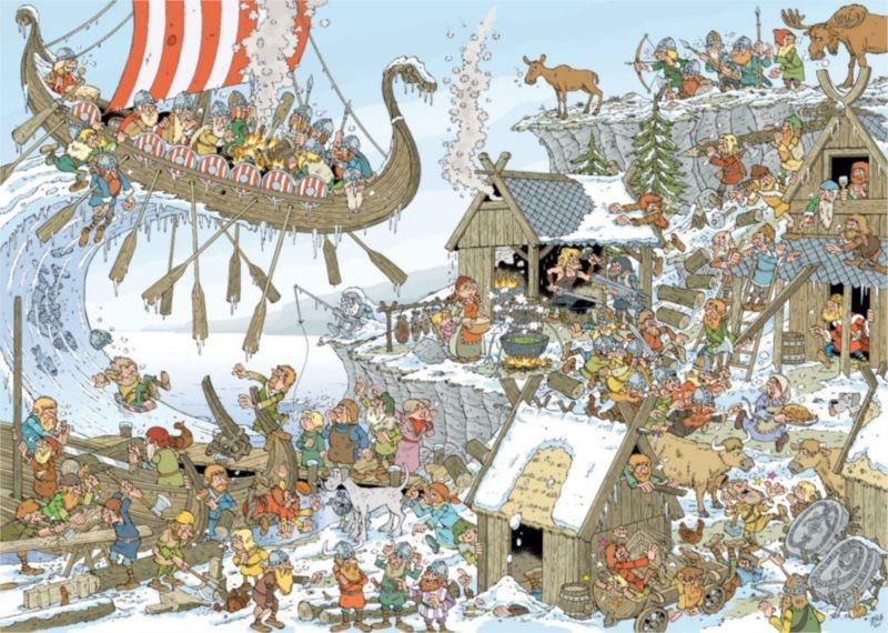 JUMBO Puzzle Zlomky historie: Vikingové 1000 dílků