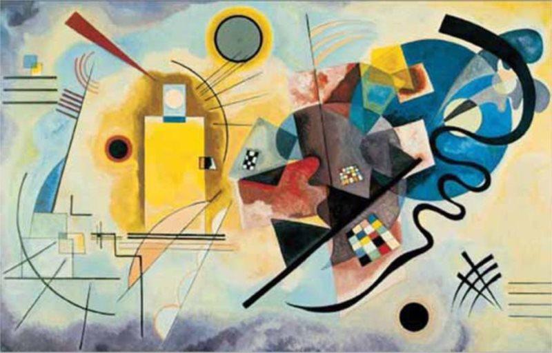 Puzzle EDITIONS RICORDI 1500 dílků - Kandinsky, Žlutá, červená, modrá