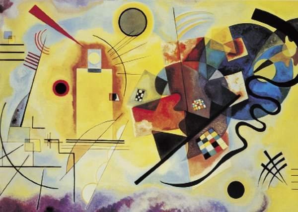 Puzzle CLEMENTONI 1000 dílků - Wassily Kandinsky, Žlutá, červená, modrá