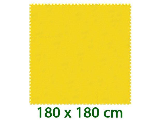 MALÝ GÉNIUS Žlutý pěnový koberec XL 8mm (59,5x59,5)