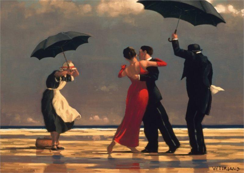 Puzzle RAVENSBURGER 1000 dílků - J. Vettriano: Zpívající lokaj