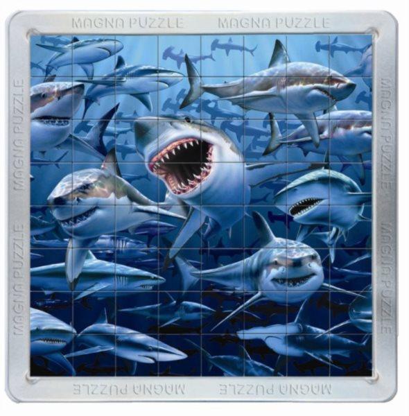 Piatnik 3D Magnetické puzzle Žraloci 64 dílků