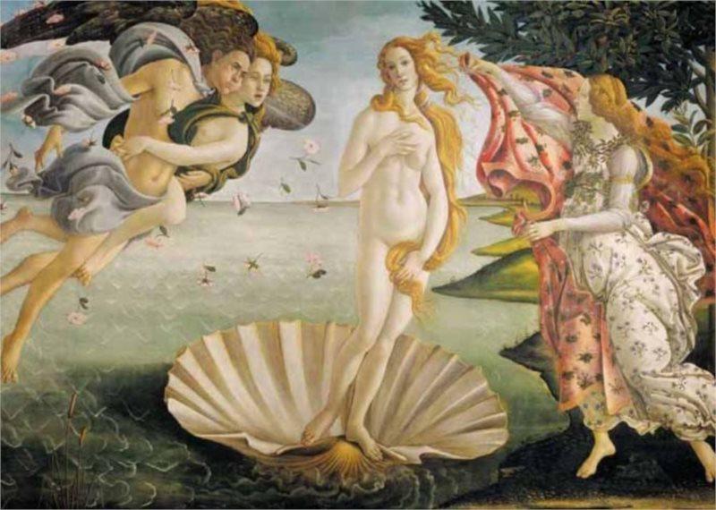 EDITIONS RICORDI Puzzle Zrození Venuše 1500 dílků