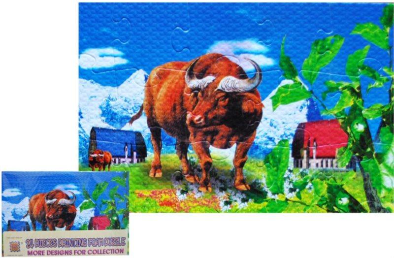 Pěnové puzzle 24 dílků - Zubr