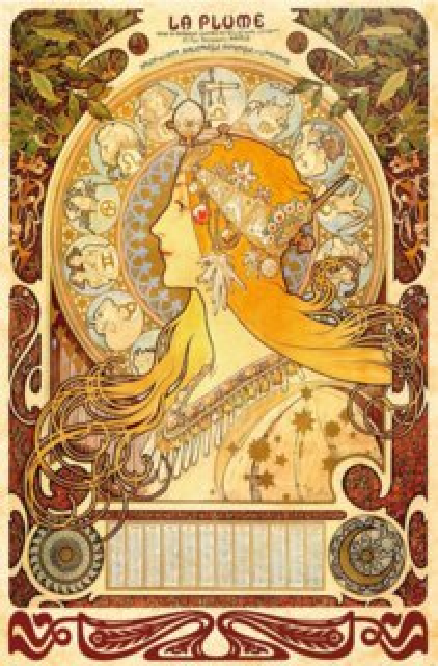 Puzzle D-TOYS 1000 dílků - Alfons Mucha, Zvěrokruh