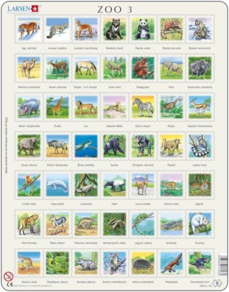 LARSEN Puzzle Zvířata světa (ZOO 3) 49 dílků