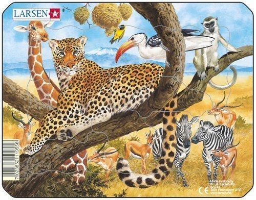 LARSEN Puzzle Zvířata na savaně 11 dílků