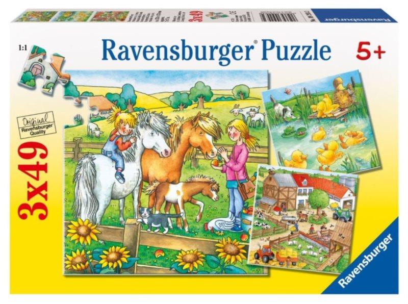 RAVENSBURGER Puzzle Zvířátka ze statku 3x49 dílků