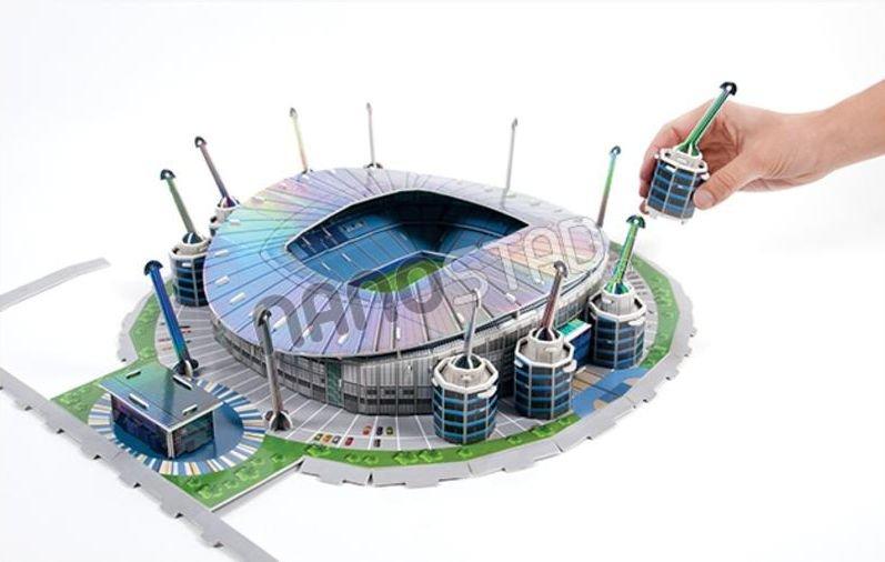 nanostad 3d puzzle stadion etihad fc manchester city puzzle. Black Bedroom Furniture Sets. Home Design Ideas