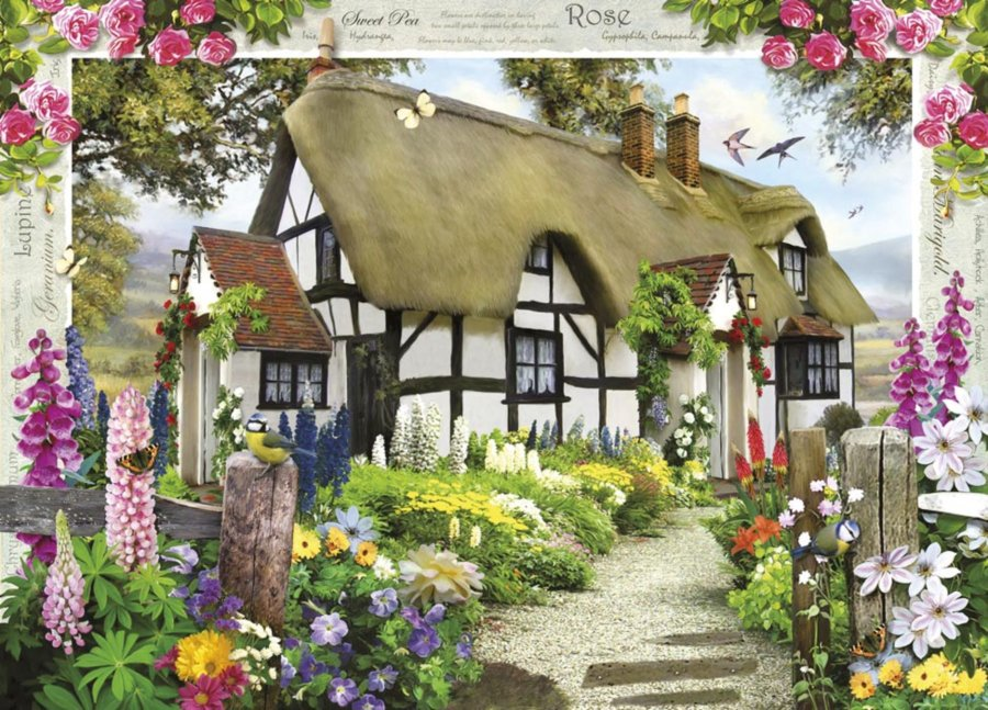 Ravensburger puzzle domek s r emi rose cottage 1000 for Rose cottage