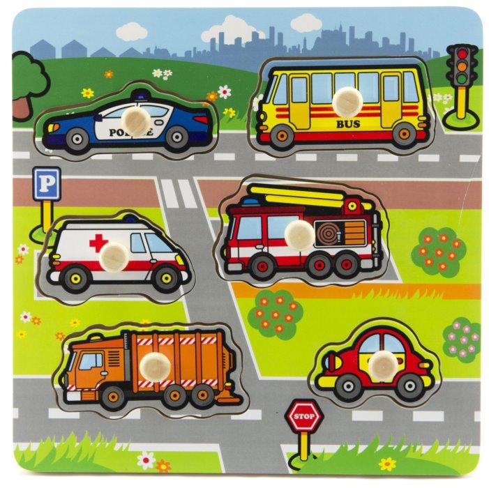 83fb7009d TEDDIES Dřevěná vkládačka Moje první auta | Puzzle-puzzle.cz