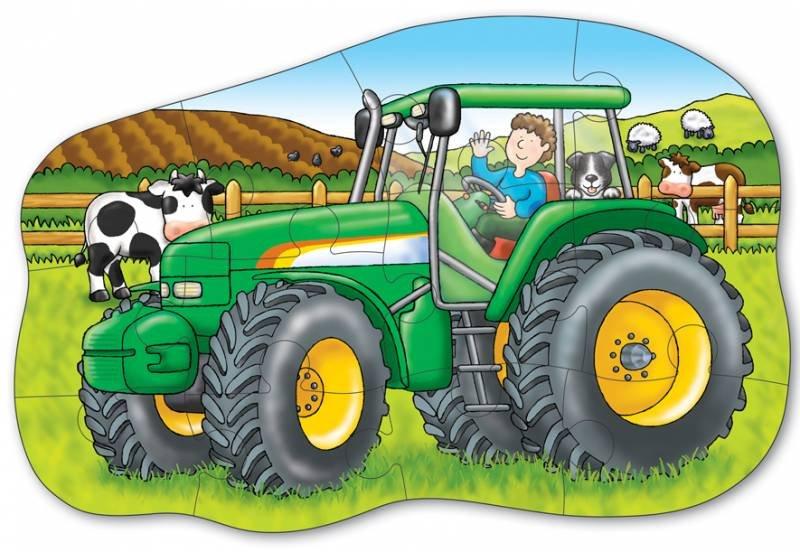 Maly Traktor Oboustranne Puzzle Puzzle Puzzle Cz
