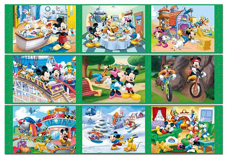 Mouse a přátelé dlouhý příběh 9v1 long tale puzzle mickey mouse