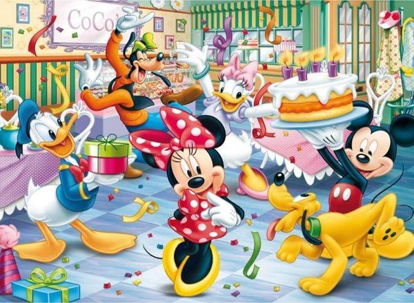 dětské obrázky k narozeninám CLEMENTONI Puzzle Minnie: Blahopřání k narozeninám 60 dílků  dětské obrázky k narozeninám