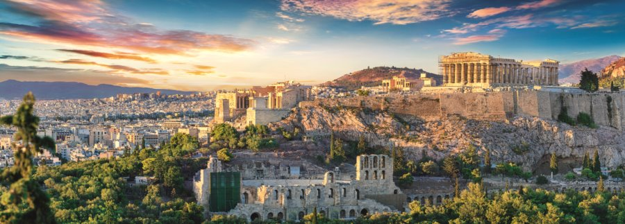 Trefl Panoramatické Puzzle Akropolis Athény 500 Dílků Puzzle Puzzle Cz