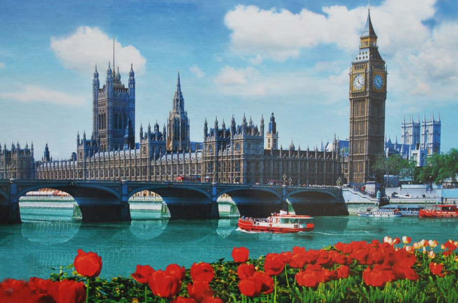 Puzzle trefl 1500 dílků parlament londýn anglie