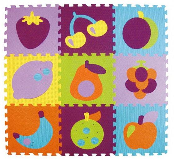 e11f50395 BABY GREAT Pěnové puzzle Barevné ovoce SX (30x30) | Puzzle-puzzle.cz