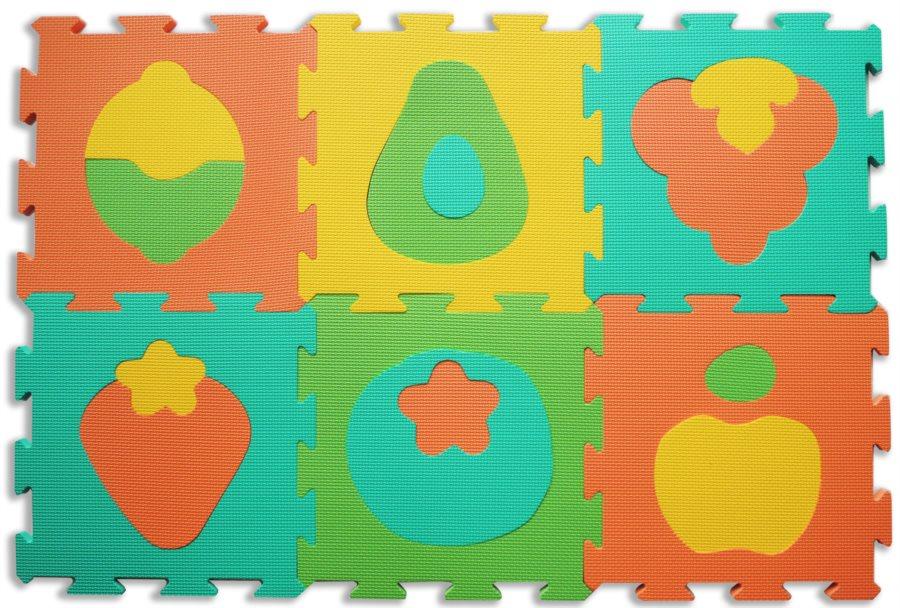 4f9f4cf07 LC Pěnový koberec extra Ovoce 0+ | Puzzle-puzzle.cz