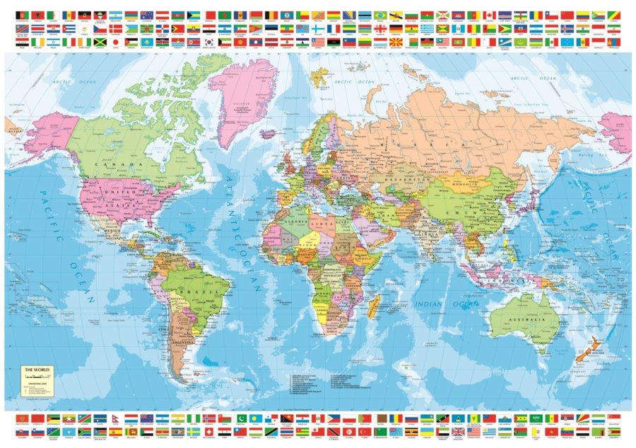 karta sveta politicka EDUCA Puzzle Politická mapa světa 1500 dílků | Puzzle puzzle.cz karta sveta politicka