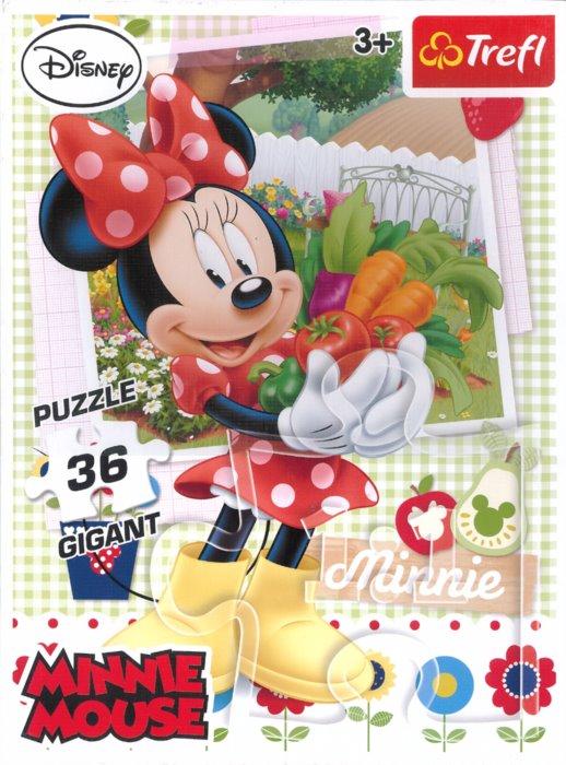TREFL Puzzle Minnie v zahradě GIGANT 36 dílků  14aa634bce1