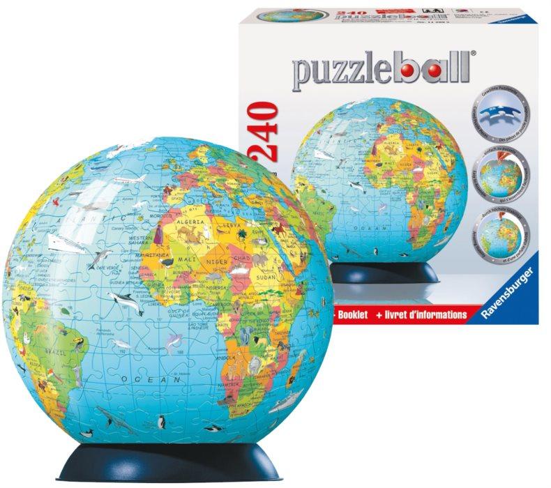 ravensburger puzzleball d tsk globus zem koule puzzle. Black Bedroom Furniture Sets. Home Design Ideas