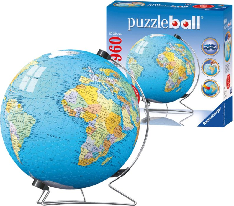 ravensburger puzzleball globus puzzle. Black Bedroom Furniture Sets. Home Design Ideas