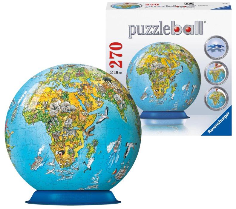 ravensburger puzzleball ilustrovan d tsk globus puzzle. Black Bedroom Furniture Sets. Home Design Ideas