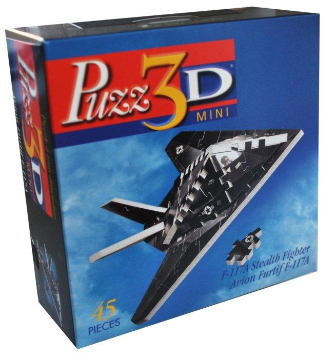 45 Pieces Puzz3D Mini F-117A Stealth Fighter Jet Plane 3D Puzzle