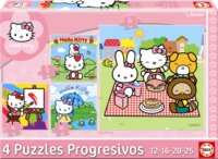 Puzzle Hello Kitty 4v1 (12,16,20,25 dílků)
