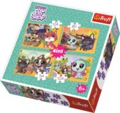 Puzzle Littlest Pet Shop 4v1 (54,80,104,104 dílků)