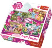 Puzzle My Little Pony 4v1 (35,48,54,70 dílků)